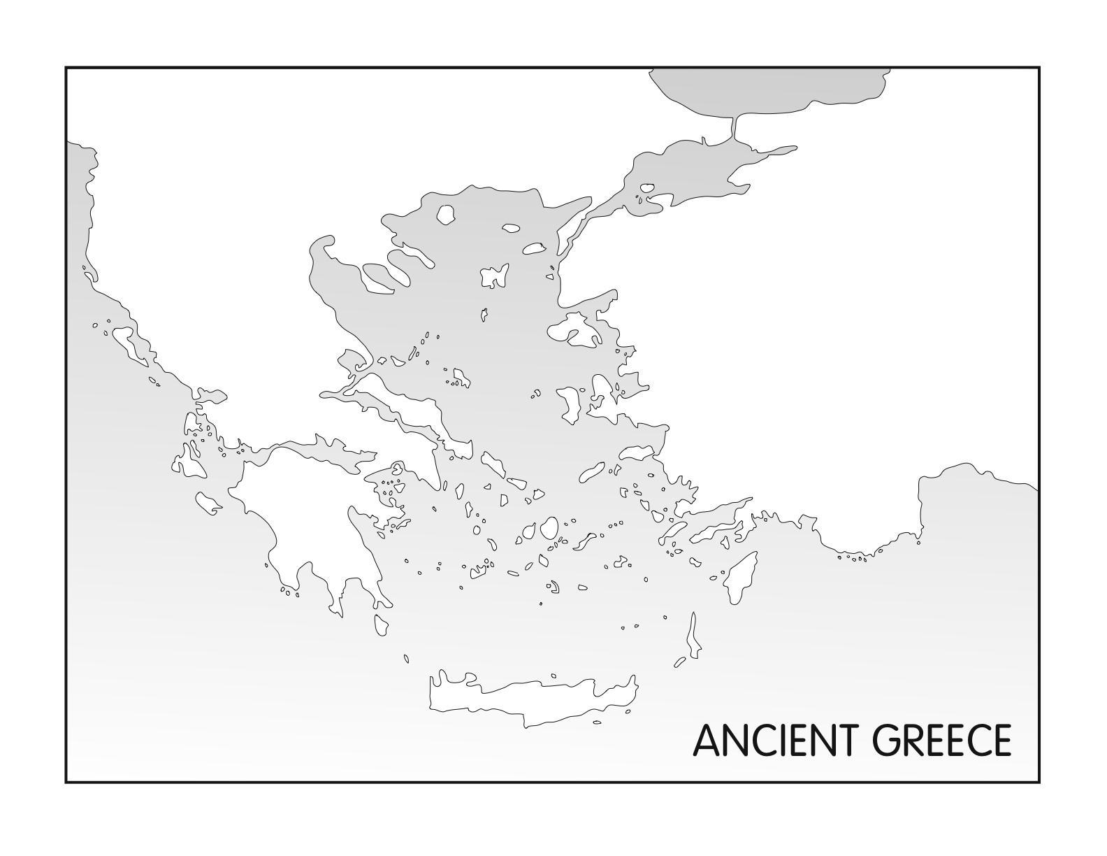carte grèce antique vierge Carte vierge de la Grèce antique, la Grèce Antique carte vierge